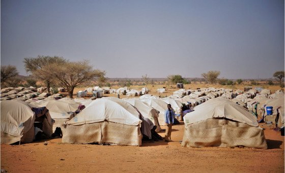 IOM-supported humanitarian site in Niamey, Niger, where more than 1,300 Nigeriens are completing their 14-day COVID-19 quarantine. .
