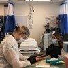 联合国工作人员在联合国总部诊所检测2019冠状病毒抗体