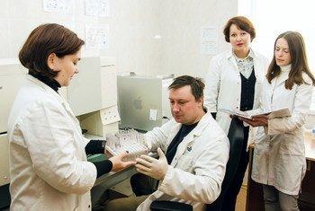 Изучение фенотипа лейкемии в отделении клинической иммунологии Национального научного центра радиационной медицины Украины.