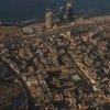 منظر جوي لشاطئ طرابلس والبحر الأبيض المتوسط من طائرة تابعة للأمم المتحدة ، طرابلس - ليبيا (أرشيف فبراير 2017)