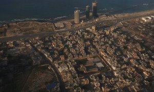 An aerial view of Tripoli, Libya from a UN aircraft. (file)