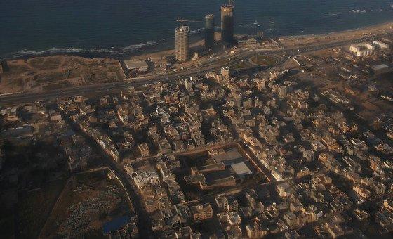 Vista aérea de Trípoli, capital da Líbia.