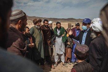 Тысячи семей афганцев были вынуждены покинуть свои дома из-за боевых действий. Помощь беженцам оказывает Международная организация по миграции