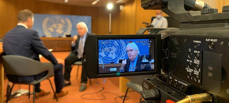 Chefe humanitário da ONU, Martin Griffiths, em entrevista para ONU News