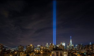 The Tribute in Light has become an iconic part of the 9/11 remembrance.