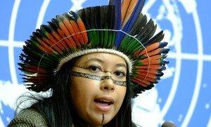 Hamangaí Pataxó já representou as suas comunidades em outros eventos internacionais.