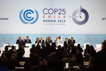 Ouverture du segment de haut niveau de la Conférence des Nations Unies sur le climat (COP25) à Madrid.