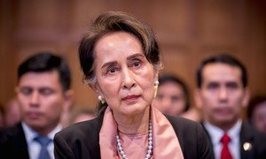 Aung San Suu Kyi appears at the UN International Court of Justice (ICJ) on 10 December 2019.