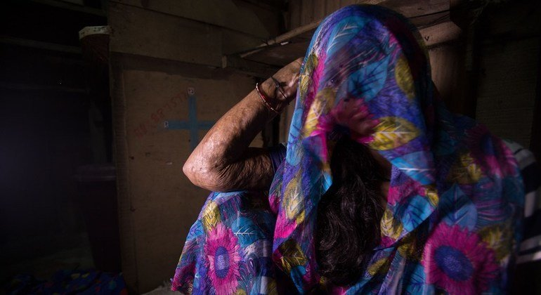 """UN officials say that gender-based violence is a """"shadow pandemic,"""" hidden beneath COVID-19."""