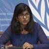 المتحدثة باسم المفوضة السامية، رافينا شمدساني في مؤتمر صحفي الجمعة  18 أكتوبر  2019