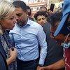 इराक़ में यूएन की विशेष प्रतिनिधि ने बग़दाद के तहरीर चौराहे पर लोगों से मुलाक़ात की.