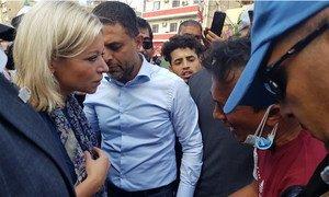 UN Iraq Special Representative, Jeanine Hennis-Plasschaert, visited Tahrir Square in Baghdad.