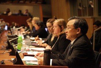 2020年2月11日,联合国主管经济和社会事务的副秘书长刘振民在社会发展委员会部长级论坛上发表主旨演讲。