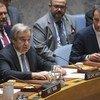 Генеральный секретарь ООН Антониу Гутерриш выступил в Совете Безопасности.