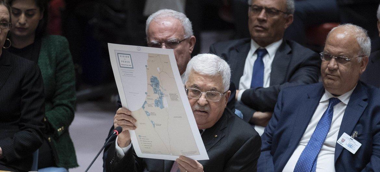 Президент Палестины Махмуд Аббас выступил в Совете Безопасности ООН.