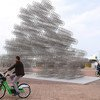 A public art sculpture called Forever Bicycle, made up of 720 carefully stacked bicycles, has just been unveiled in Abu Dhabi, United Arab Emirates.