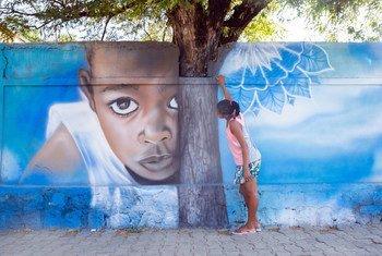 A Madagascar, l'UNICEF a recours au street art pour promouvoir les droits de l'enfant dans le pays