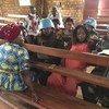 Walinda amani wa Tanzania waliowasili DRC wakiwa kwenye mkutano wa kujitambulisha kwa wanawake huko Kivu Kaskazini.