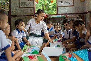 Children in a Myanmar pre-school (file)