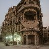 A restaurant reopens for business amid the destruction of war in east Aleppo in Syria.