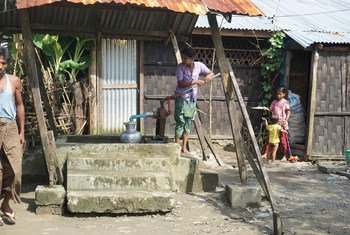 缅甸若开邦境内的流离失所者(2018年9月图片)。