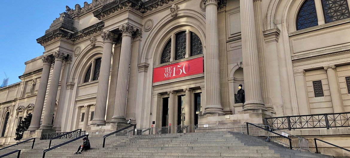 New York City's tourist attractions like the Metropolitan Museum of Art (pictured) have closed due to the coronavirus pandemic.