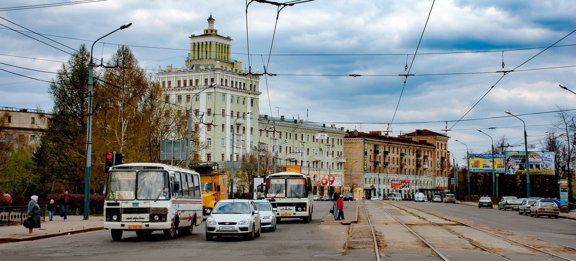Kazan in southwestern  Russia, where on 11 May, a deadly mass shooting claimed the lives of seven children, and two adults.