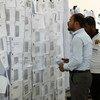 إعادة الفرز اليدوي لأصوات 2018 خلال الانتخابات الوطنية في العراق. (الأرشيف)