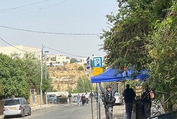 Israeli police gather in Sheikh Jarrah neighborhood in East Jerusalem, where Palestinians are threatened with eviction.