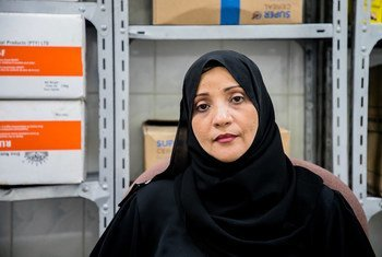 Asia El-Sayeed Ali at the WFP-supported nutrition clinic where she works in Aden, Yemen.