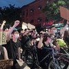 Protesters demonstrate against police brutality and racial injustice in Brooklyn, New York.