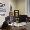 यूएन प्रमुख एंतोनियो गुटेरेश जी-7 समूह की बैठक के लिये अपनी उम्मीदों को साझा करते हुए.