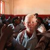 Lucas and his brother both have albinism, which makes their skin very sensitive, their eyesight poor, and their appearance a little different from their brothers and sisters.