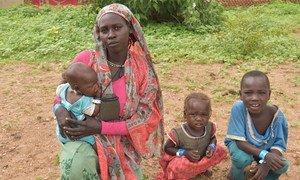 苏丹难民越过边境逃往乍得以躲避达尔富尔地区的暴力。