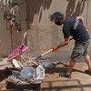 Wiken y otros miembros de UNICEF se han unido a los residentes de Beirut para limpiar las calles de la ciudad devastada por las explosiones del pasado 4 de agosto