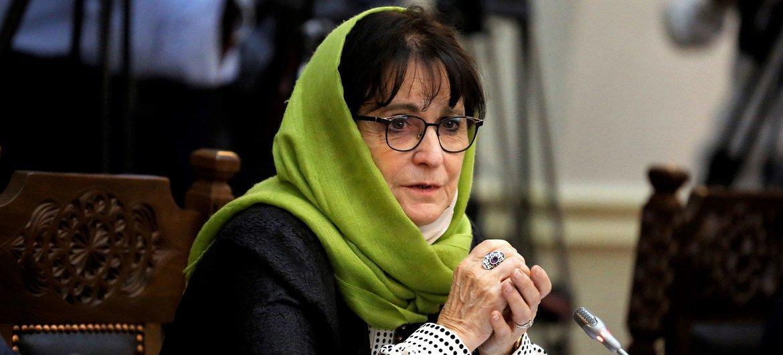 Глава Миссии ООН в Афганистане Дебора Лайонс.