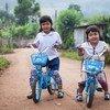 泰国西北部湄宏顺府的儿童。