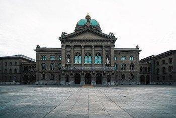 Edificio del Parlamento suizo en Berna.