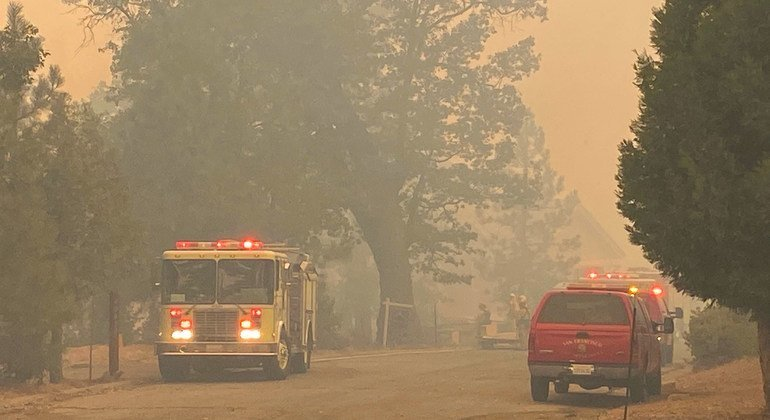 Smoke from wildfires in California hangs heavy in the atmosphere.
