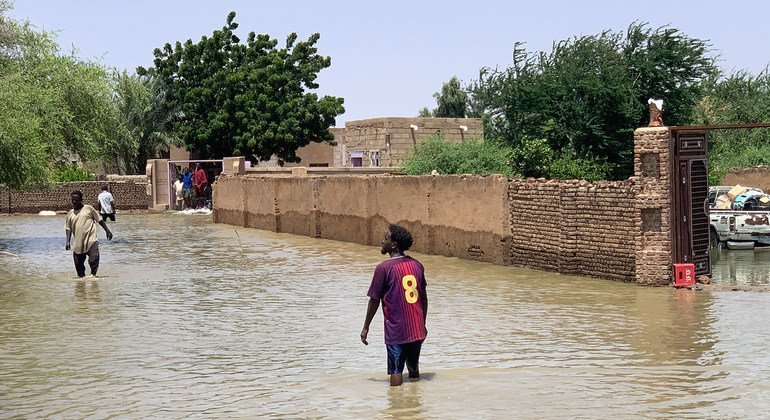 A flood affected neighbourhood in Khartoum State, Sudan.
