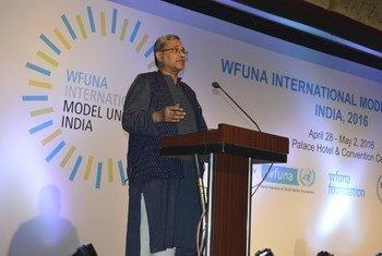 संयुक्त राष्ट्र के भारत और भूटान के लिये राष्ट्रीय सूचना अधिकारी और भारत में संयुक्त राष्ट्र सूचना केन्द्र (UNIC) के ऑफिसर-इन-चार्ज, राजीव चन्द्रन.