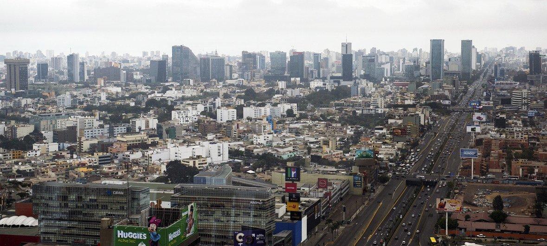 Vista de la ciudad de Lima, la capital de Perú.
