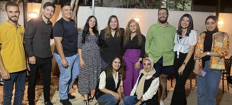 The team behind the WeRise app, a HeForShe project, in Jordan