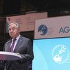 Secretário-geral, António Guterres, discursa no Fórum de Paz de Paris, em França