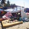 Un groupe de personnes, ayant fui la violence dans plusieurs districts de Cabo Delgado, arrive dans la capitale provinciale, Pebma.