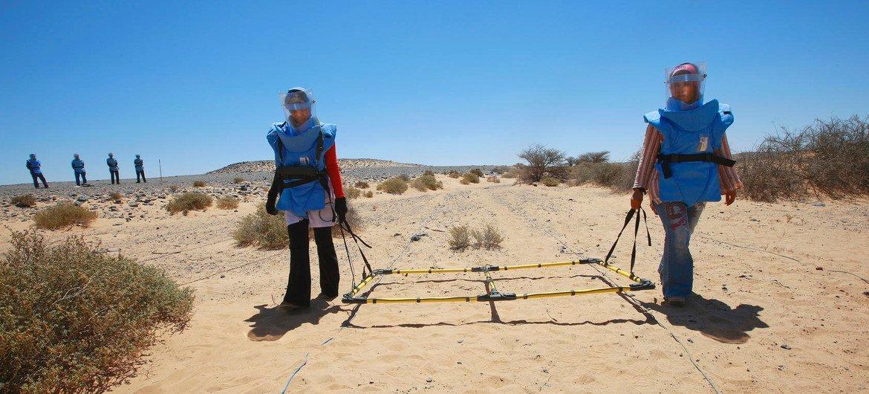 Comunidade de ação contra as minas das Nações Unidas intensificou os esforços para acabar com a ameaça de artefatos explosivos improvisados.