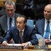 Mohamed Khaled Khiari, Sous-Secrétaire général des Nations Unies pour le Moyen-Orient, l'Asie et le Pacifique, devant le Conseil de sécurité.