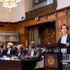 Aung San Suu Kyi comparaît devant la Cour internationale de Justice (CIJ) des Nations Unies le 11 décembre 2019.