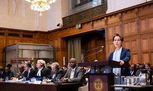 昂山素季于2019年12月11日在联合国国际法院(ICJ)出席听证。