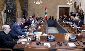 اجتماع رئيس الجمهورية ميشال عون مع مجموعة الدعم الدولية من أجل لبنان،  12 تشرين الثاني / نوفمبر 2019.